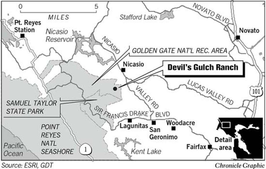 Devil's Gulch Ranch. Chronicle Graphic Photo: Chronicle Graphic