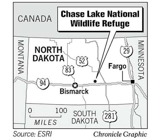 Chase Lake National Wildlife Refuge. Chronicle Graphic Photo: Todd Trumbull