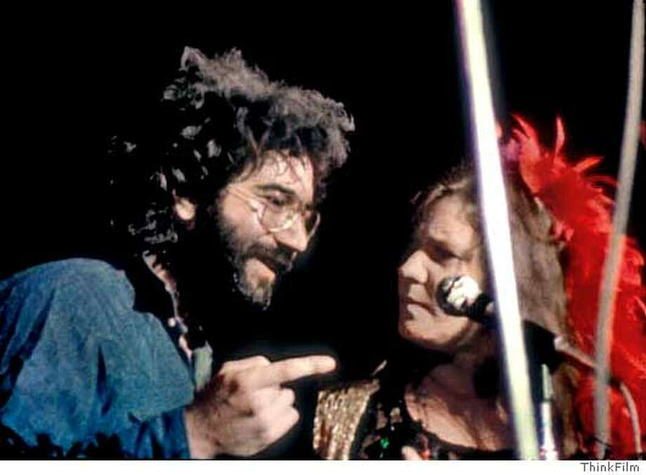 Jerry Garcia and Janis Joplin