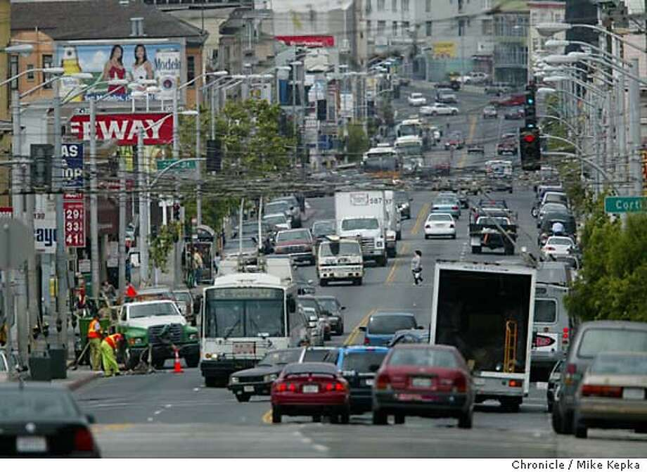 Near the end of the Road at the top of the hill not too far before Mission runs into Daly City.  We follow San Francisco's Mission Street from the Embarcadero to Daly City.  MIKE KEPKA/The Chronicle Photo: MIKE KEPKA
