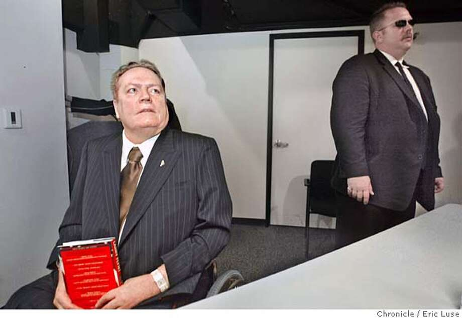 Larry Flynt speaks to the Chronicle staff.  Event on 7/8/04 in San Francisco. Eric Luse / The Chronicle Photo: Eric Luse