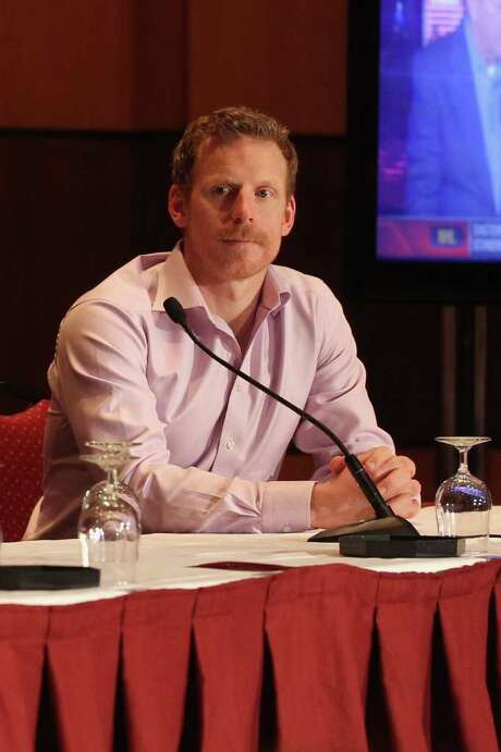 OTTAWA, ON - JANUARY 26:  Daniel Alfredsson of the Ottawa Senators answers quaestions from the media during a media availabilty prior to the 2012 NHL All-Star Game Fantasy Draft at Hilton Lac Leamy on January 26, 2012 in Ottawa, Canada.  (Photo by Bruce Bennett/Getty Images) Photo: Bruce Bennett / 2012 Getty Images
