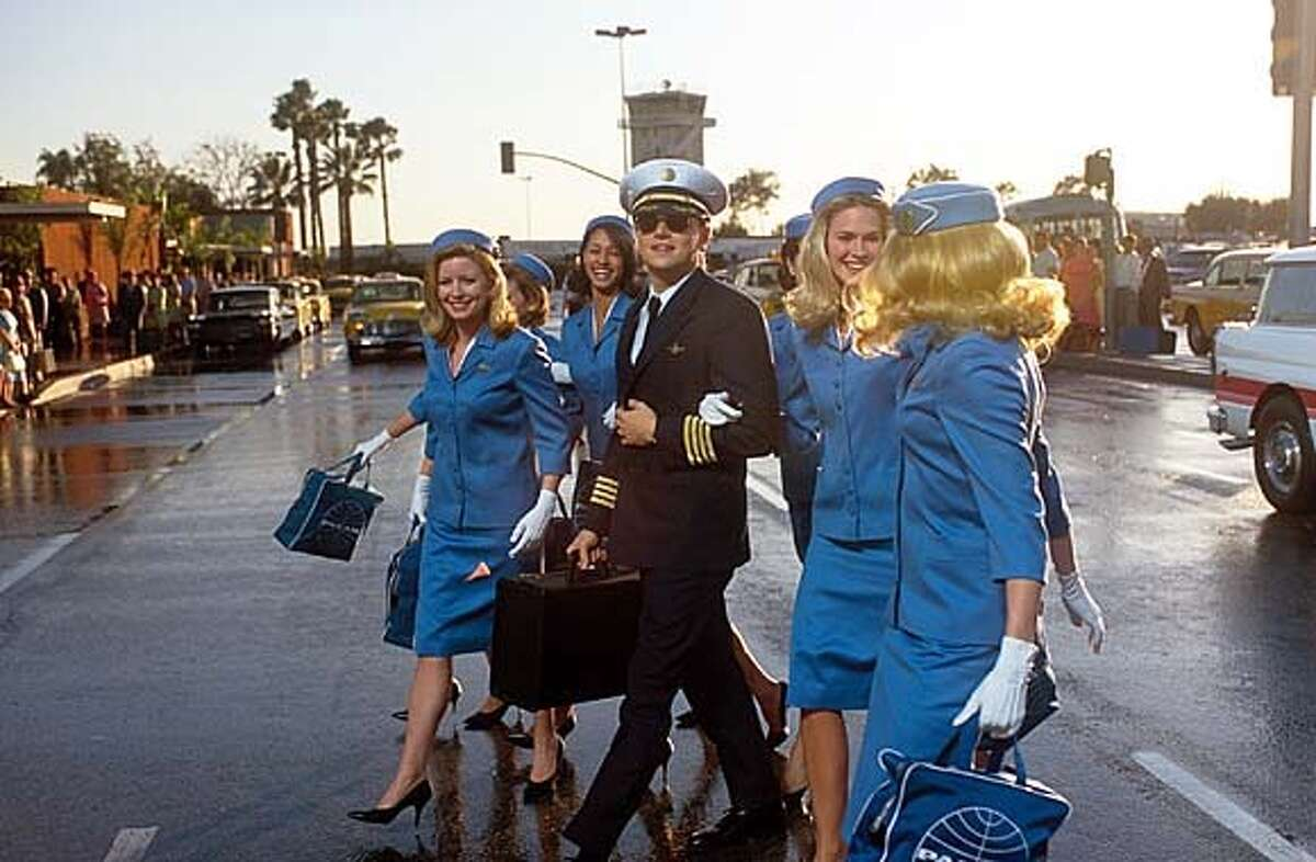 Frank Abagnale Jr. (Leonardo DiCaprio) passes himself off as a Pan Am co-pilot � one of many personae he assumes � in