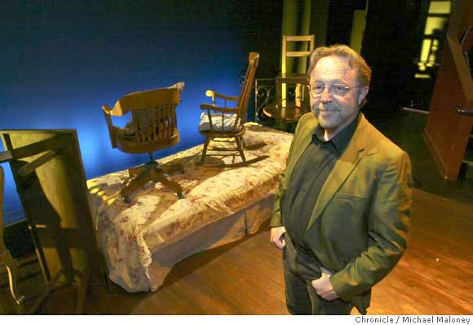 """Tom Ross is the new artistic director of Aurora Theatre in Berkeley on the set (opening scene) of """"Betrayal,"""" a play he directed and is now running at the Aurora.  Photo by Michael Maloney / San Francisco Chronicle Photo: Michael Maloney"""