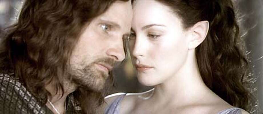 """I would rather share one lifetime with you than face all the ages of this world alone.""— Arwen to Aragorn in ""The Lord of the Rings: The Fellowship of the Ring.""PHOTO: Arwen (Liv Tyler) and Aragorn (Viggo Mortensen) share a moment in ""The Lord of the Rings: The Two Towers."" Photo: HANDOUT"