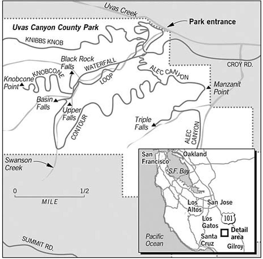 Uvas Canyon County Park. Chronicle Graphic