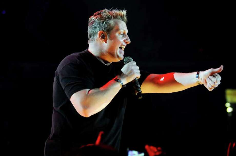 Rascal Flatts plays to the crowd during his performance on Thursday, Jan. 26, 2012, at Times Union Center in Albany, N.Y. (Cindy Schultz / Times Union) Photo: Cindy Schultz / 00016197A