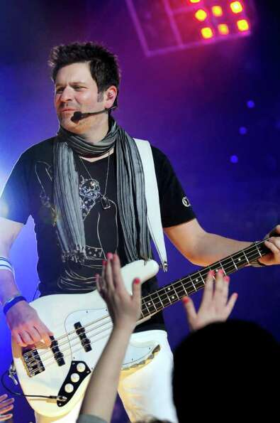 Bass player Jay DeMarcus performs with Rascal Flatts on Thursday, Jan. 26, 2012, at Times Union Cent