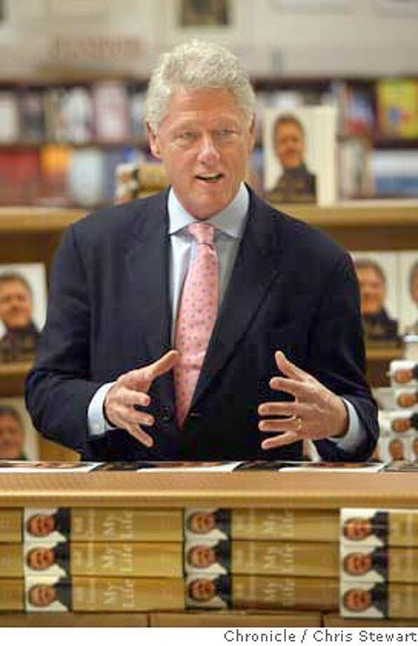 Event on 6/29/04 in Berkeley  Former President Bill Clinton autographed his long-awaited book about his presidency today at Cody's Books on Telegraph Avenue in Berkeley. The event drew a huge crowd of admirers. Chris Stewart / The Chronicle Photo: Chris Stewart