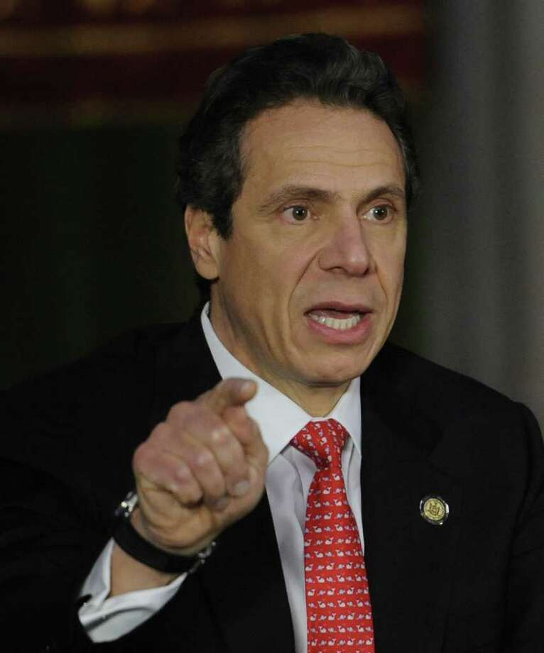 Governor Andrew Cuomo discussed various subjects which included redistricting and hydrofracking during a cabinet meeting at the State Capitol in Albany, N.Y. Jan. 26, 2012.     ( Skip Dickstein/Times Union) Photo: Skip Dickstein
