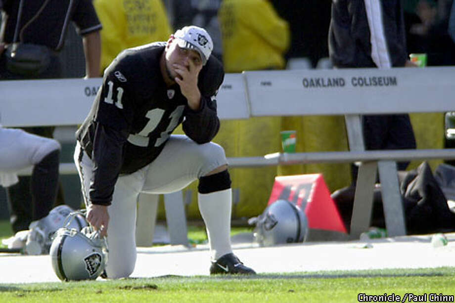 Raiders kicker Sebastian Janikowski had hit eight straight field goals, including two from 51 yards. Chronicle photo by Paul Chinn
