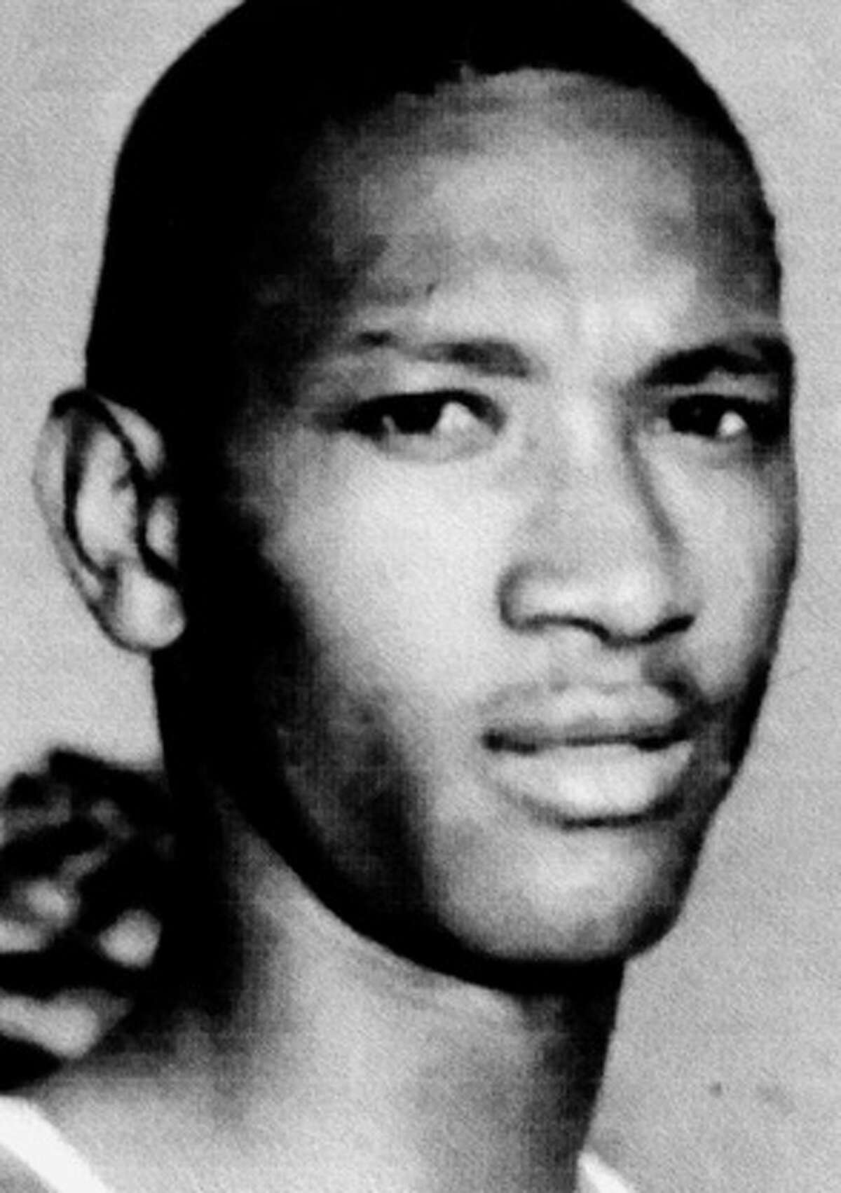 Longtime Houston junior high and high school coach John Hartfield during his days as a track and field athlete at Texas Southern in 1967. File photo