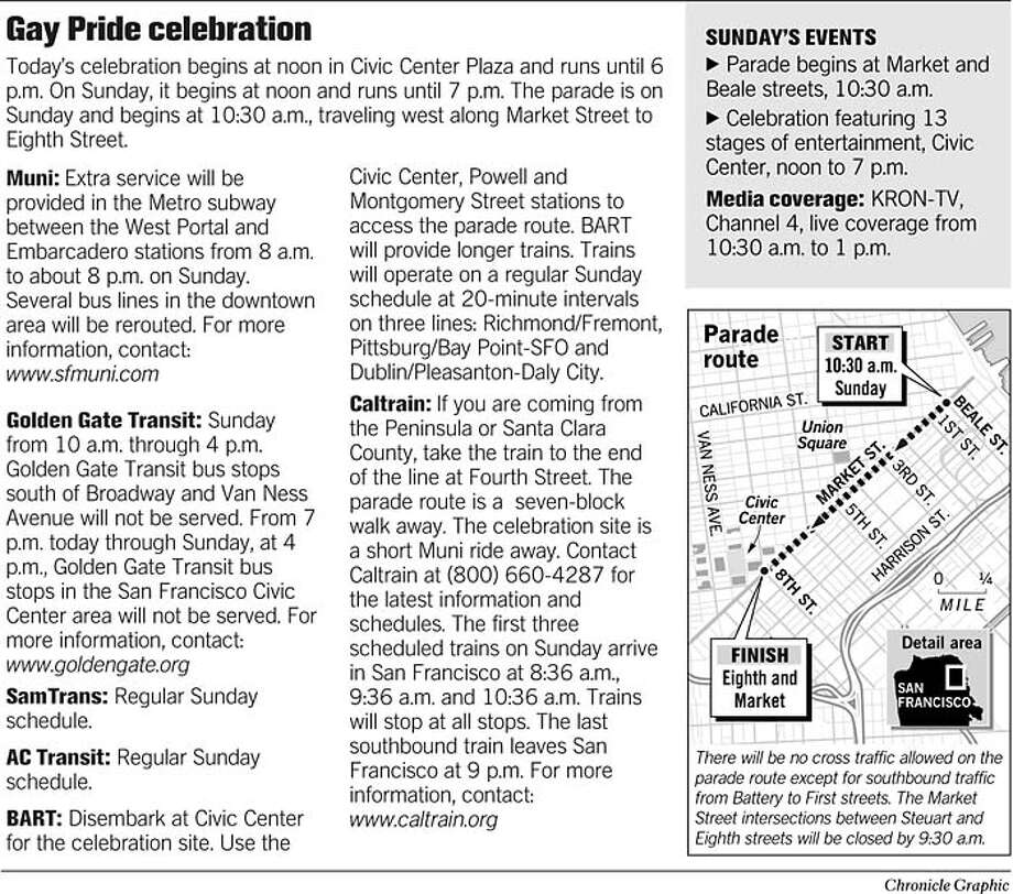 Gay Pride Celebration. Chronicle Graphic Photo: Chronicle Graphic