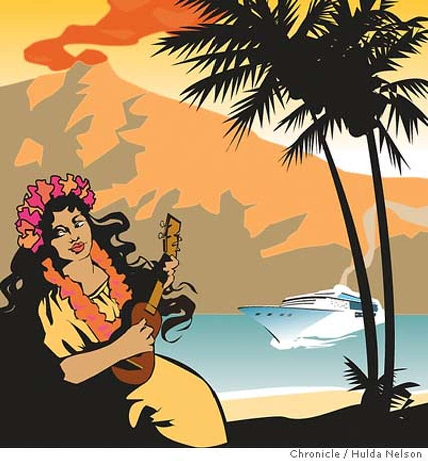 Hawaii Hopping. Chronicle illustration by Hulda Nelson Photo: Hulda Nelson