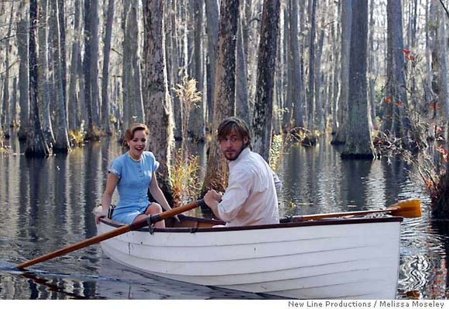 "Rachel McAdams as Allie and Ryan Gosling (left) as Noah in ""The Notebook."" An epic story of love lost and found from New Line Productions. (AP Photo/Melissa Moseley/New Line Productions / Melissa Moseley) Photo: MELISSA MOSELEY"