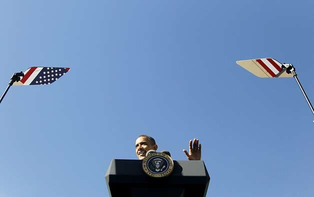 President Barack Obama speaks at UPS, Thursday, Jan. 26, 2012, in Las Vegas. (AP Photo/Haraz N. Ghanbari) Photo: Haraz N. Ghanbari, Associated Press