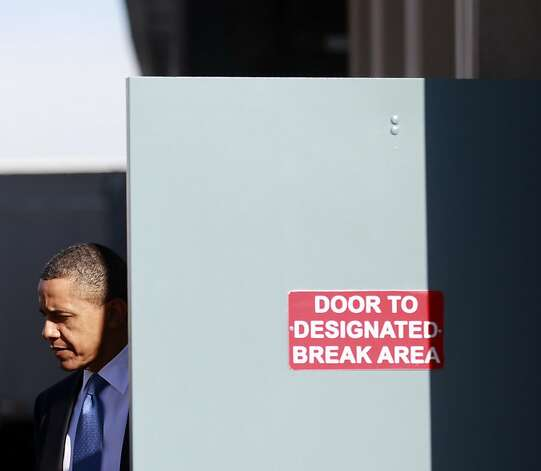 President Barack Obama arrives to speak at UPS, Thursday, Jan. 26, 2012, in Las Vegas. (AP Photo/Haraz N. Ghanbari) Photo: Haraz N. Ghanbari, Associated Press