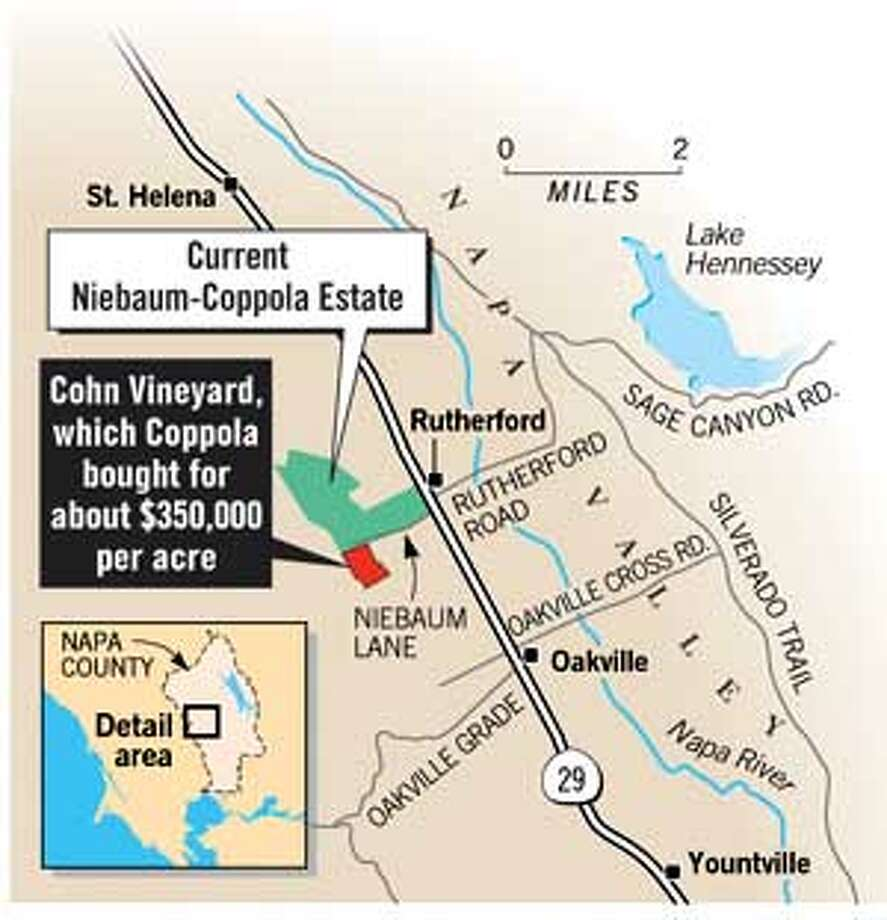 Niebaum-Coppola Estate. Chronicle Graphic