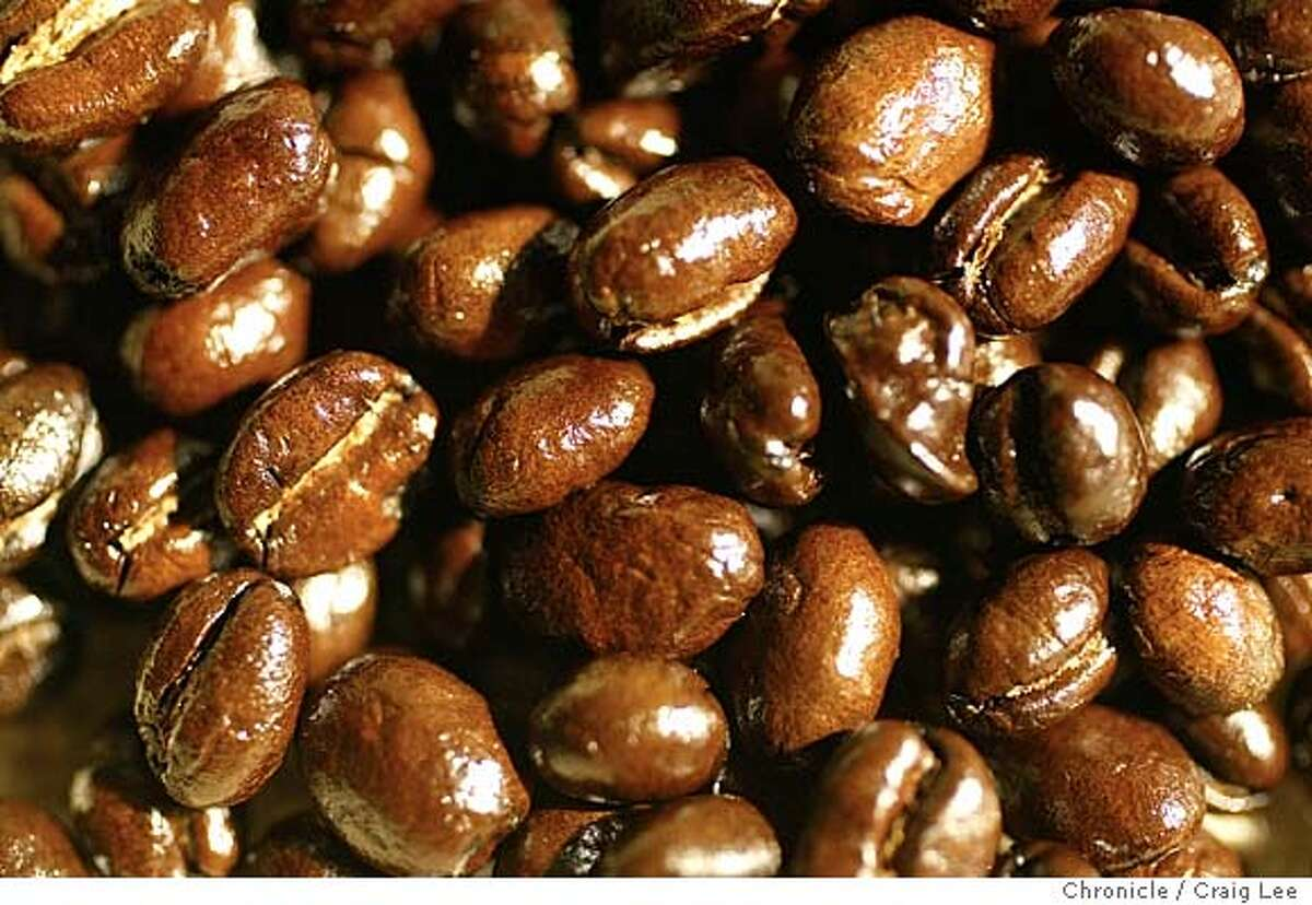 Close-up photo of roasted coffee beans. Event on 6/9/04 in San Francisco. Craig Lee / The Chronicle
