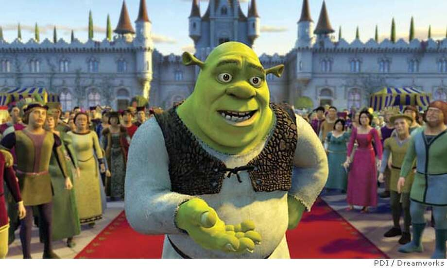 The adventures of Shrek, a green ogre, continue in Shrek 2, a box-office hit. PDI / Dreamworks photo