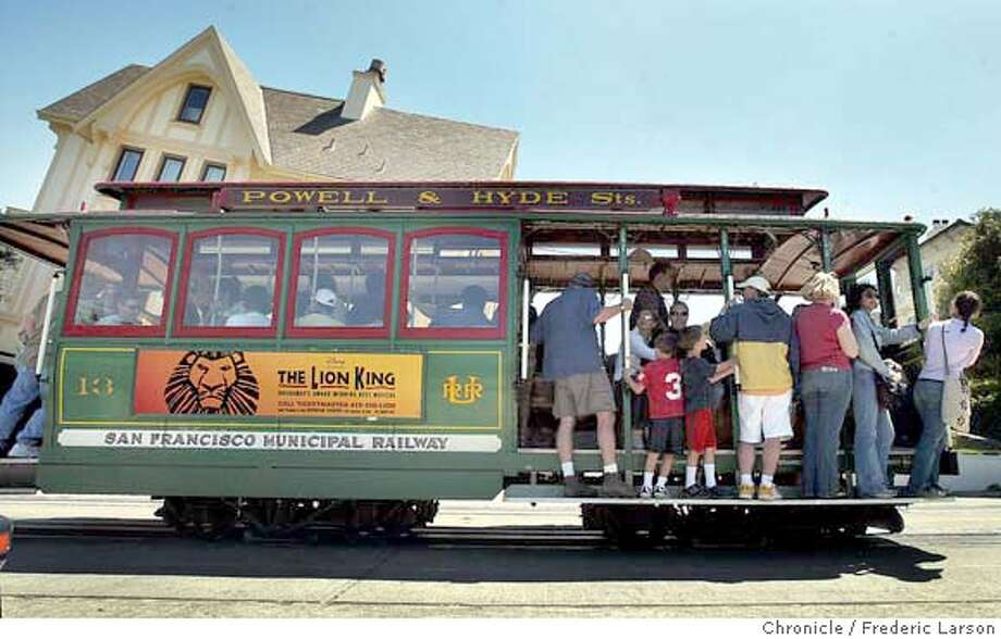 ; It's been twenty years since completion of 2-year overhaul of cable car system and still climbing half way up to the stars on Hyde Street near Lombard. 6/21/04  San Francisco Chronicle Frederic Larson Photo: Frederic Larson