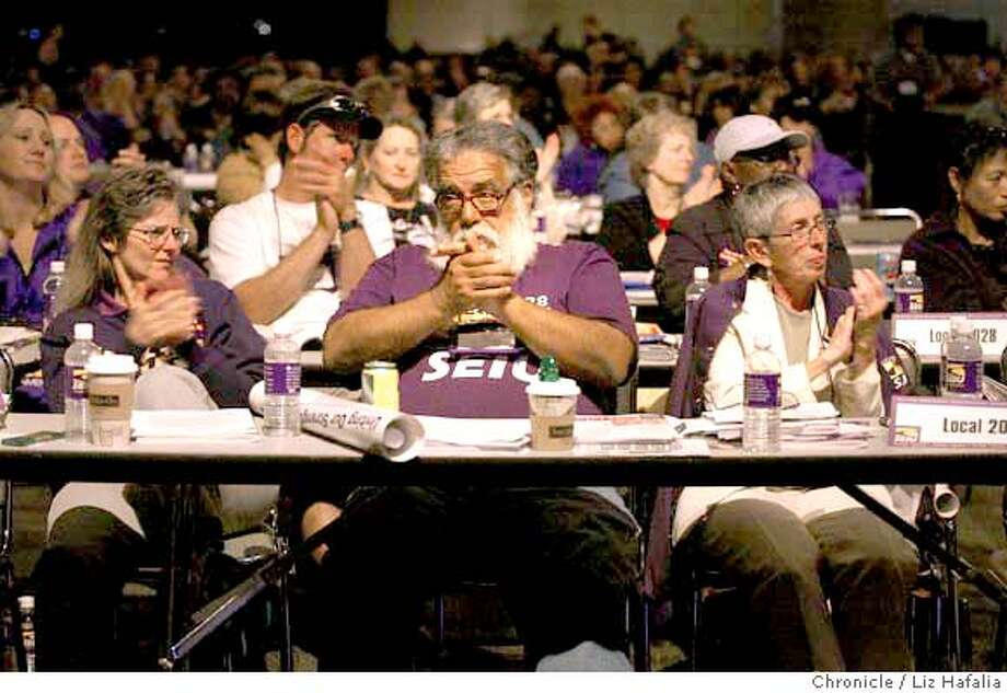 Several thousand members of the Service Employees International Union attended their quadrennial convention at Moscone West, wehre SEIU president Andrew Stern rose several key issues for discussion. Shot on 6/21/04 in San Francisco. LIZ HAFALIA / The Chronicle Photo: LIZ HAFALIA