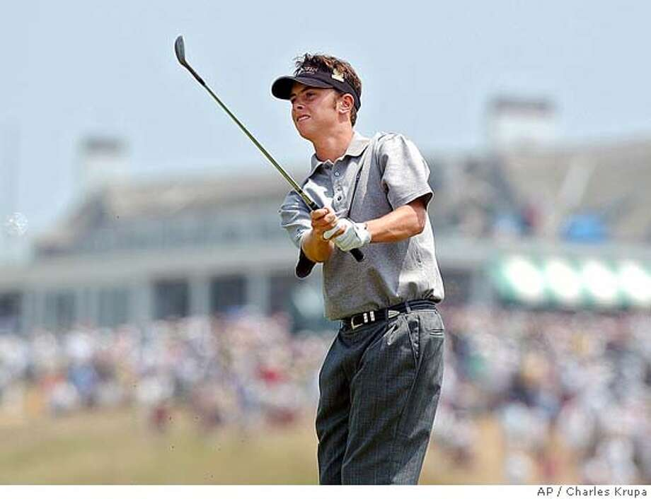 Amateur Spencer Levin watches his shot to the first green during the third round of the U.S. Open Saturday, June 19, 2004, at Shinnecock Hills Golf Club in Southampton, N.Y. (AP Photo/Charles Krupa) Photo: CHARLES KRUPA