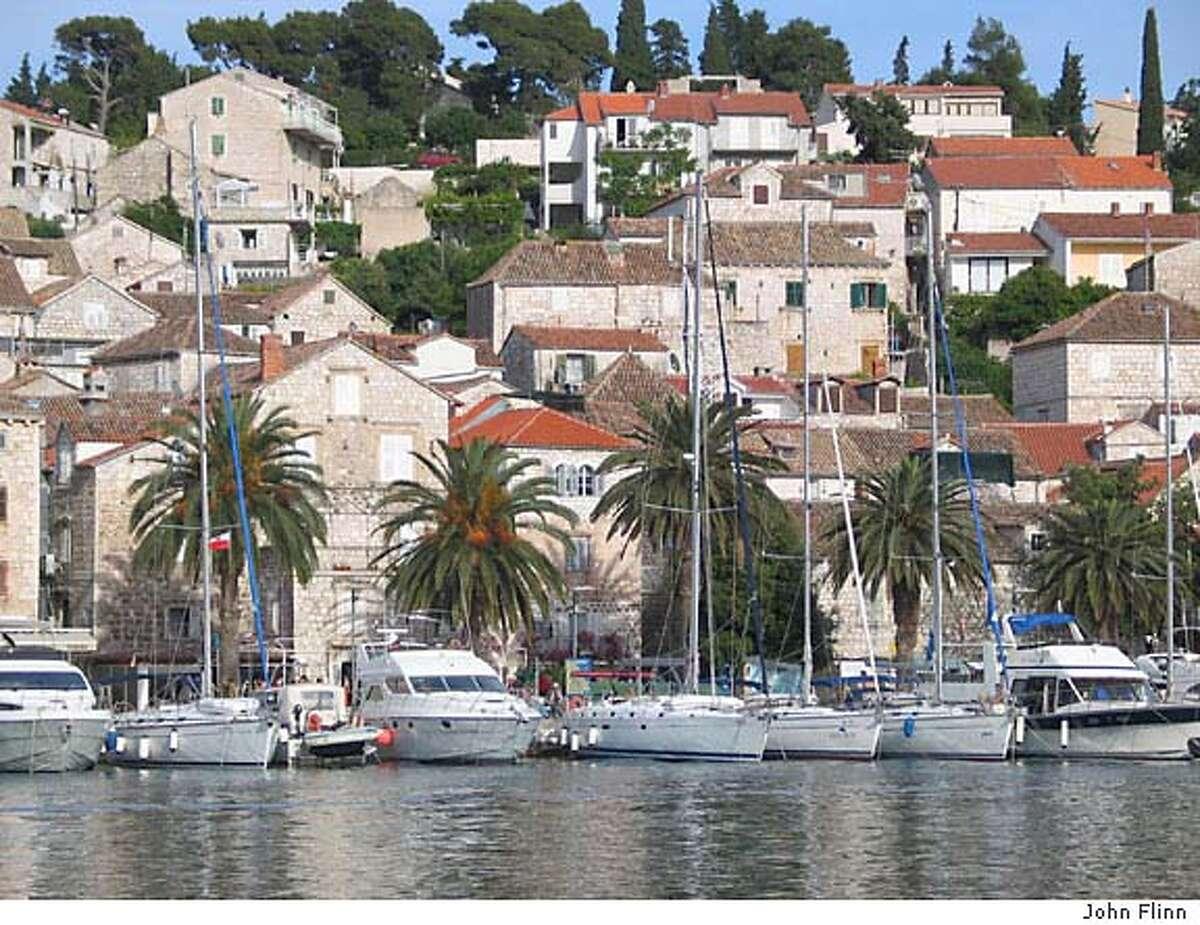 TRAVEL CROATIA -- Yachts outnumber fishing boats now on the island of Hvar. Credit: John Flinn