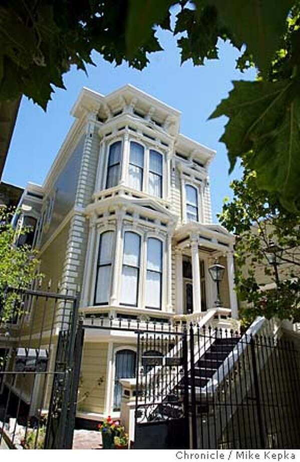 824 Grove in San Francisco was built in 1886 for buisinessman Henry Brune. In 1965 it was bought and restored by Richard Reutlinger the current owner.6/15/04 in San Francisco. Mike Kepka / The Chronicle Photo: Mike Kepka