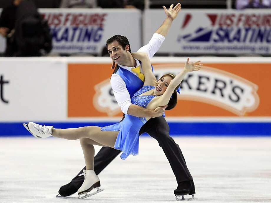 Mary Beth Marley, bottom, and Rockne Brubaker compete in the pairs short program at the U.S. Figure Skating Championships in San Jose, Calif., Thursday, Jan. 26, 2012. (AP Photo/Marcio Jose Sanchez) Photo: Marcio Jose Sanchez, Associated Press