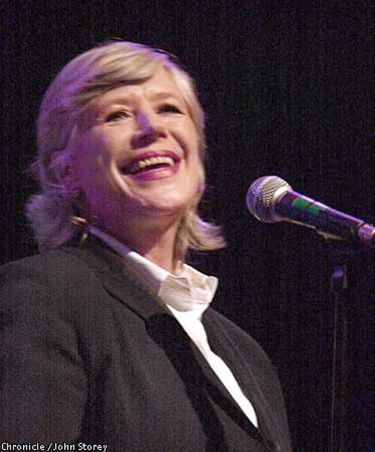 FAITHFUL05-C-03DEC02-DD-JRS-Marianne Faithful in concert at the Fillmore in San Francisco. Chronicle photo by John Storey. Photo: John Storey