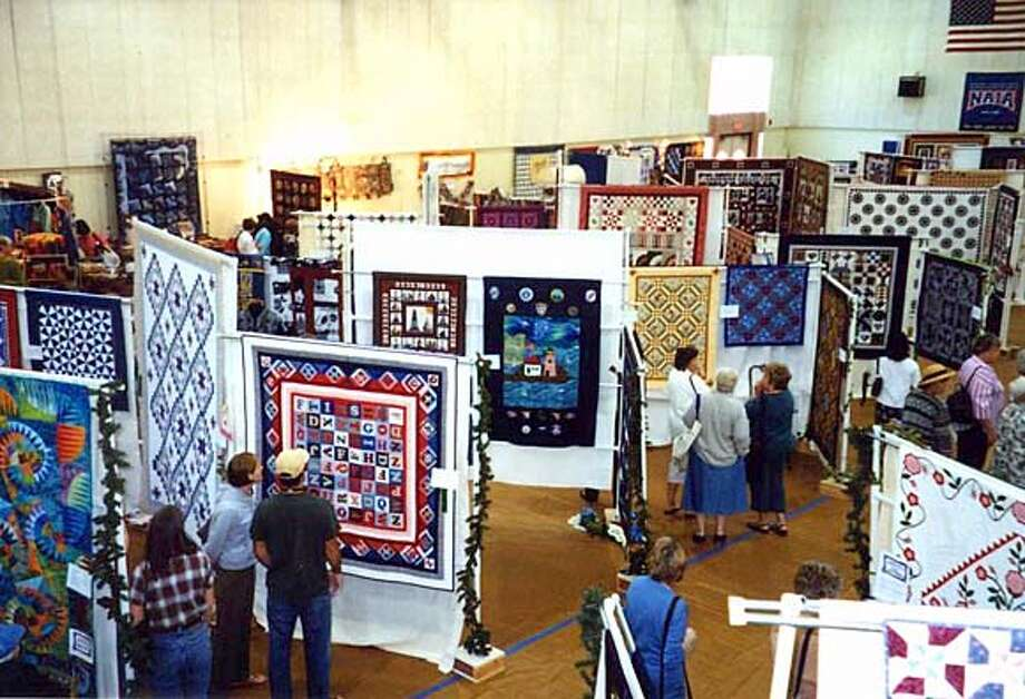 This was the scene at the 2002 Quilting by the Bay event. This year's will be held over the weekend in Belmont.