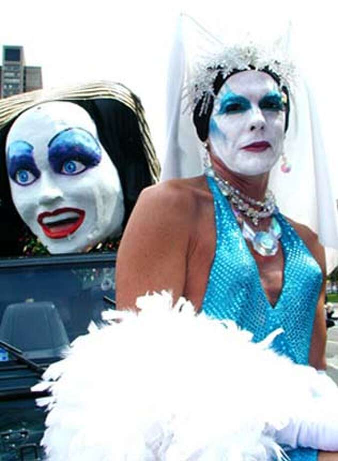 Picture from the Gay Pride parade from the Streets of San Francisco website for the WBNotes column.
