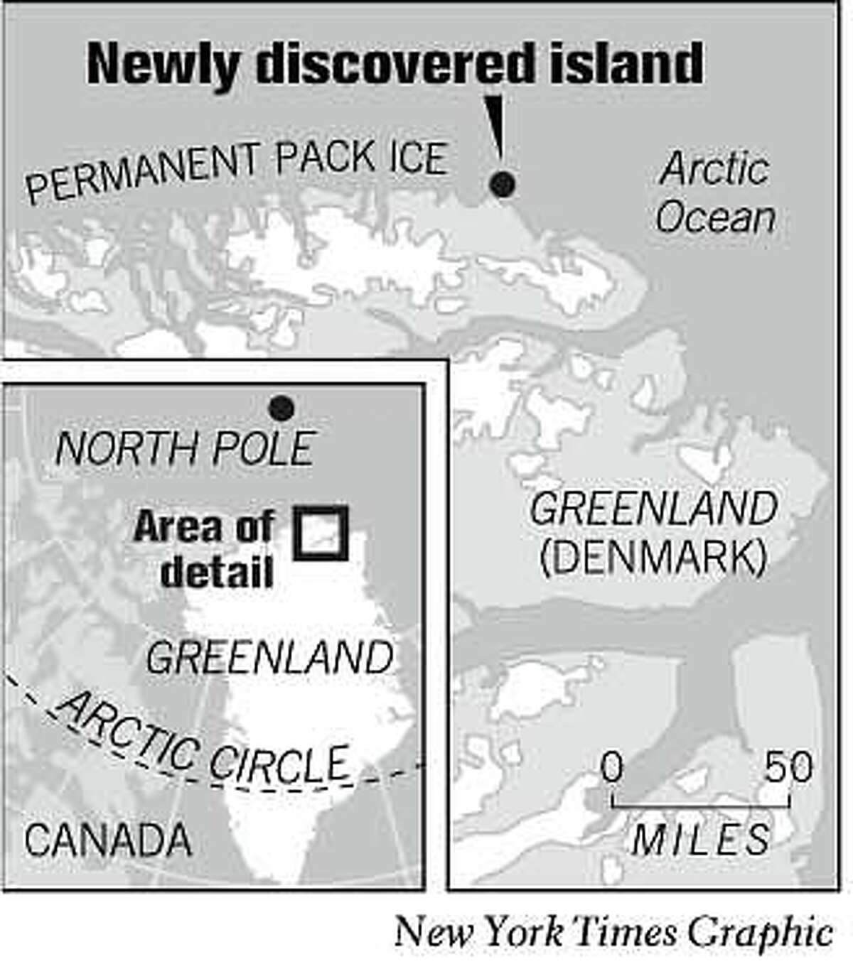 Newly Discovered Island. Chronicle Graphic