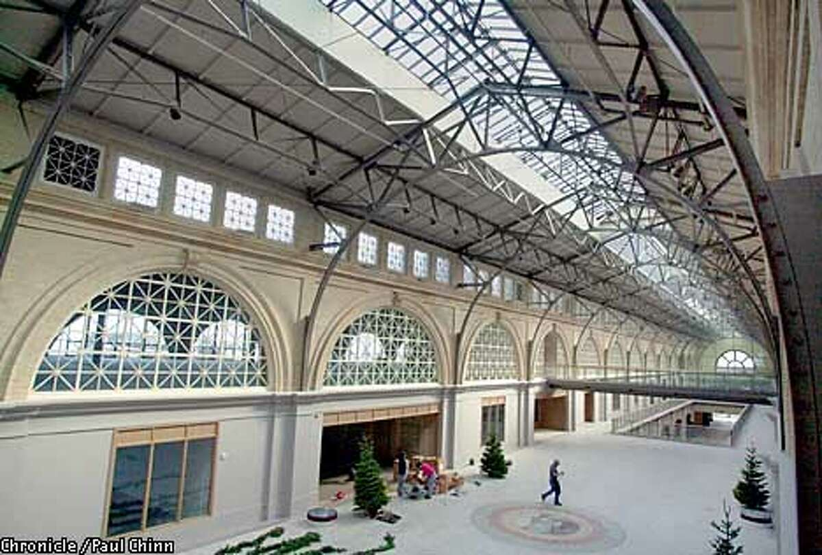 Developers have dramatically opened up the interior of the Ferry Building. Renovation on the port's landmark is about 70 percent completed. PAUL CHINN/S.F. CHRONICLE