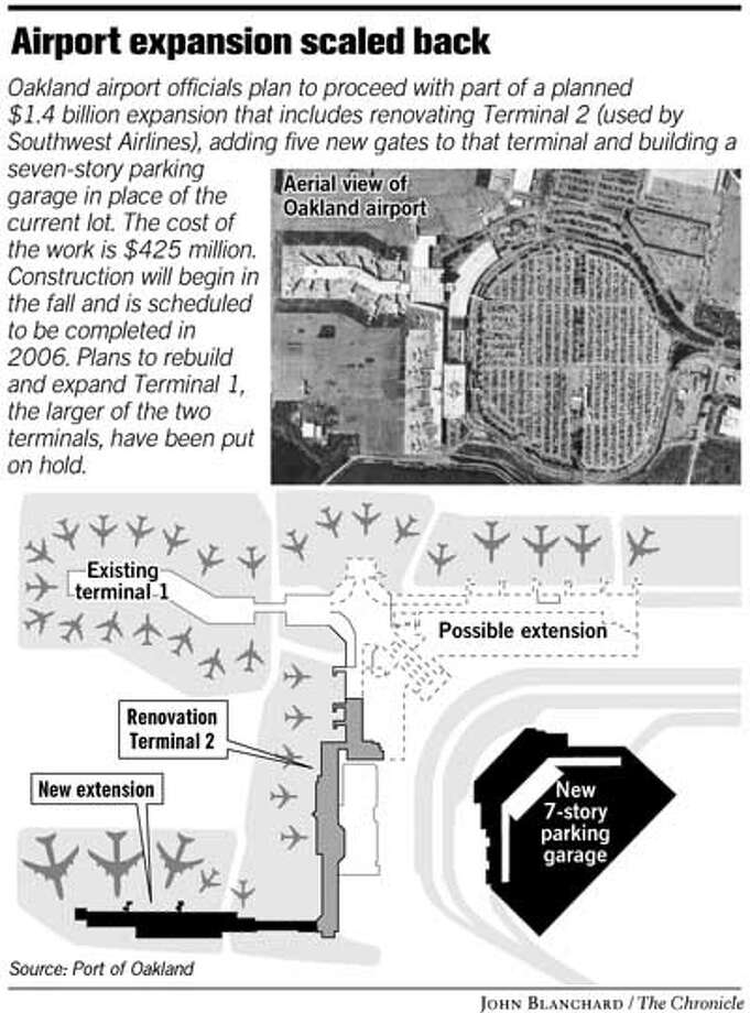 Airport Expansion Scaled Back. Chronicle graphic by John Blanchard