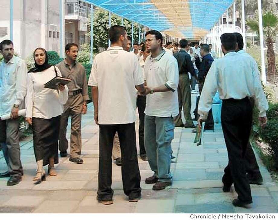 College students at Mustansiryah University in Baghdad, Iraq. PHOTO CREDIT: Newsha Tavakolian