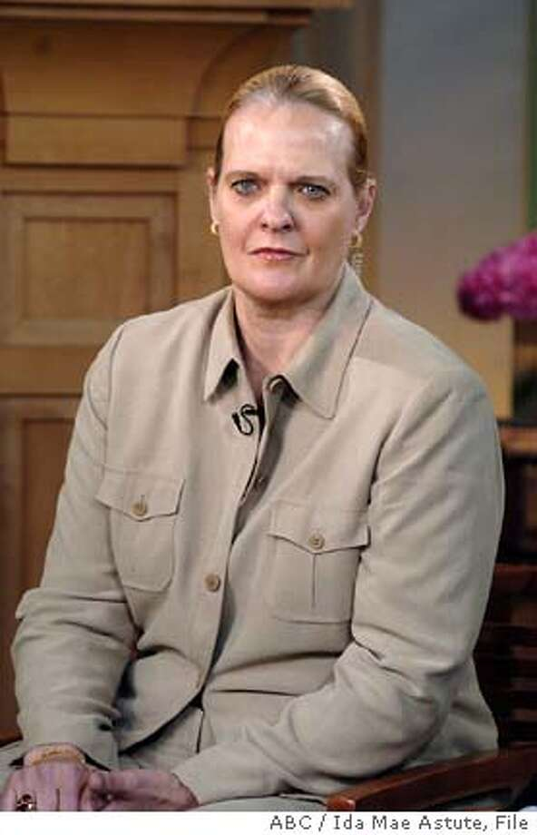 "** FILE ** Brig. Gen. Janis Karpinski is shown in this photo during her appearance on ABC's ""Good Morning America"" Monday, May 3, 2004. Karpinski, the former commander of American prisons in Iraq told The Star-Ledger of Newark, N.J., for Friday, May 7, 2004, editions that an Army report on the abuse of Iraqis by American GIs gives only one side of the story. But in e-mails Karpinski sent from Iraq to a Presbyterian pastor after the scandal broke, she acknowledged that soldiers abused prisoners at the Abu Ghraib prison. (AP Photo/ABC / Ida Mae Astute) Photo: IDA MAE ASTUTE"