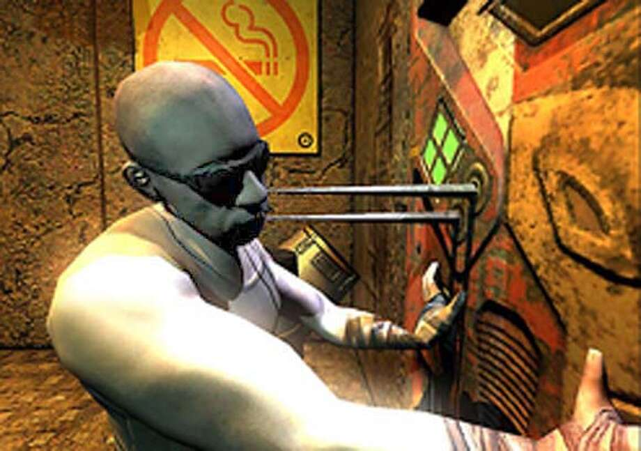 Screenshot of the video game The Chronicles of Riddick: Escape from Butcher Bay.