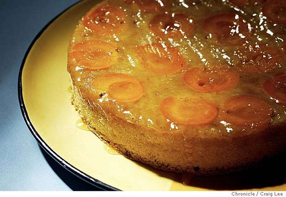 Apricot Almond Upside Down Cake. Food styled by Troy Sawaisanyakorn.  Event on 6/9/04 in San Francisco. Craig Lee / The Chronicle Photo: Craig Lee