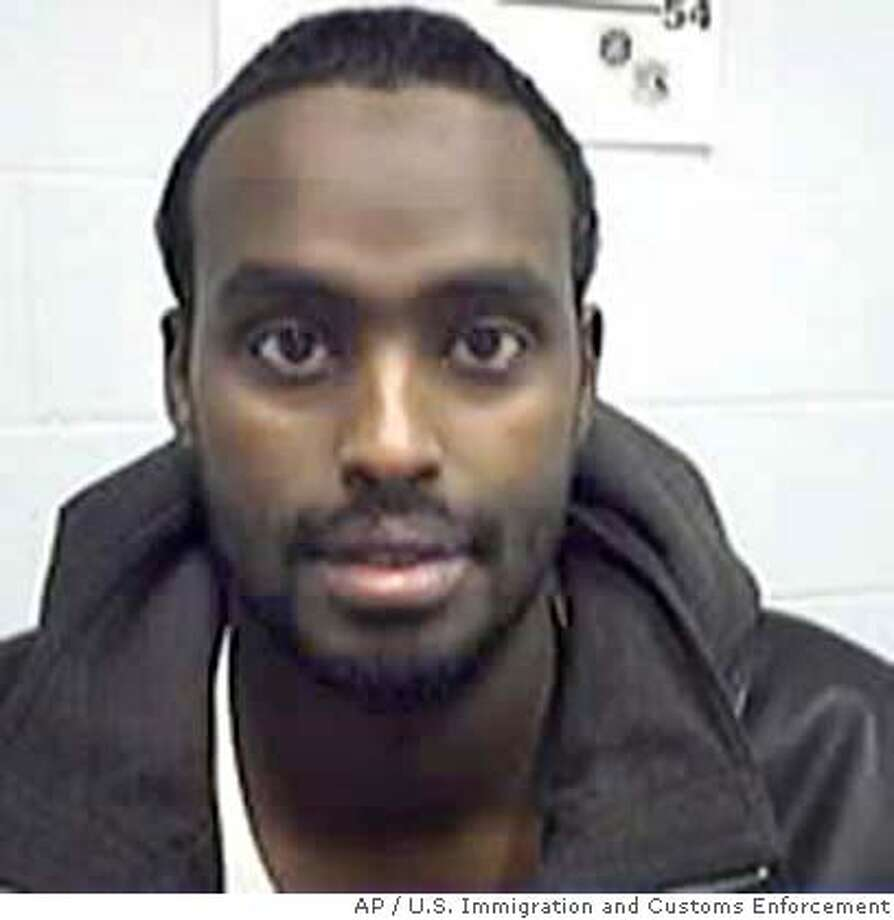 Nuradin Mahamoud Abdi, 32, a Somali native living in Ohio seen in this image released by the U.S. government, was charged in a four-count indictment announced by Attorney General John Ashcroft during a news conference in Washington Monday, June 14, 2004. The indictment, returned by a grand jury in Columbus, Ohio, charges Abdi with conspiring with admitted al-Qaida member Iyman Faris and others to detonate a bomb at an unidentified shopping mall after he obtained military-style training in Ethiopia. (AP Photo/U.S. Immigration and Customs Enforcement) UNDATED HANDOUT IMAGE