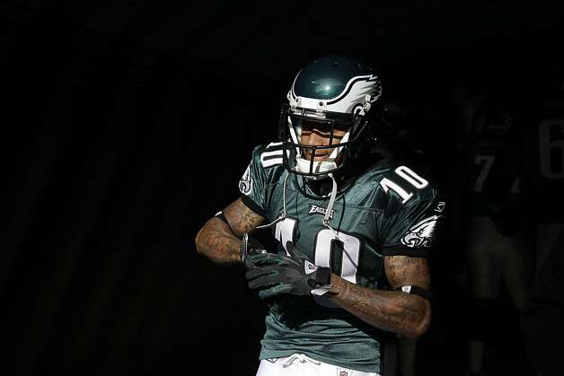 Philadelphia Eagles' DeSean Jackson waits to run onto the field before an NFL football game against the Washington Redskins, Sunday, Jan. 1, 2012, in Philadelphia. (AP Photo/Matt Slocum) Photo: Matt Slocum, Associated Press