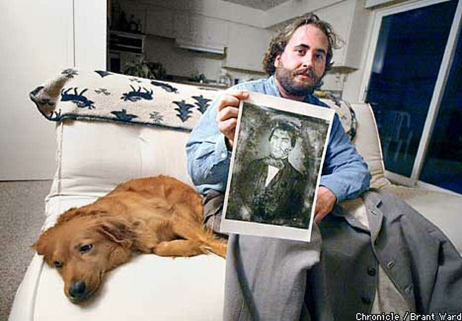 Andrew Quist holds a picture of Adam Hope, a Confederate killed at Spring Hill. The next day his two brothers were also killed at Franklin, TENN. Quist is trying to bring attention to this lost Civil War battlefield. By Brant Ward/Chronicle Photo: BRANT WARD