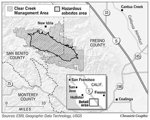 SAN BENITO COUNTY / Curbing off-road recreation / Asbestos ... on map of california wildfire, map of california canada, map of california food, map of california richmond, map of california fire, map of california aviation, map of california water,