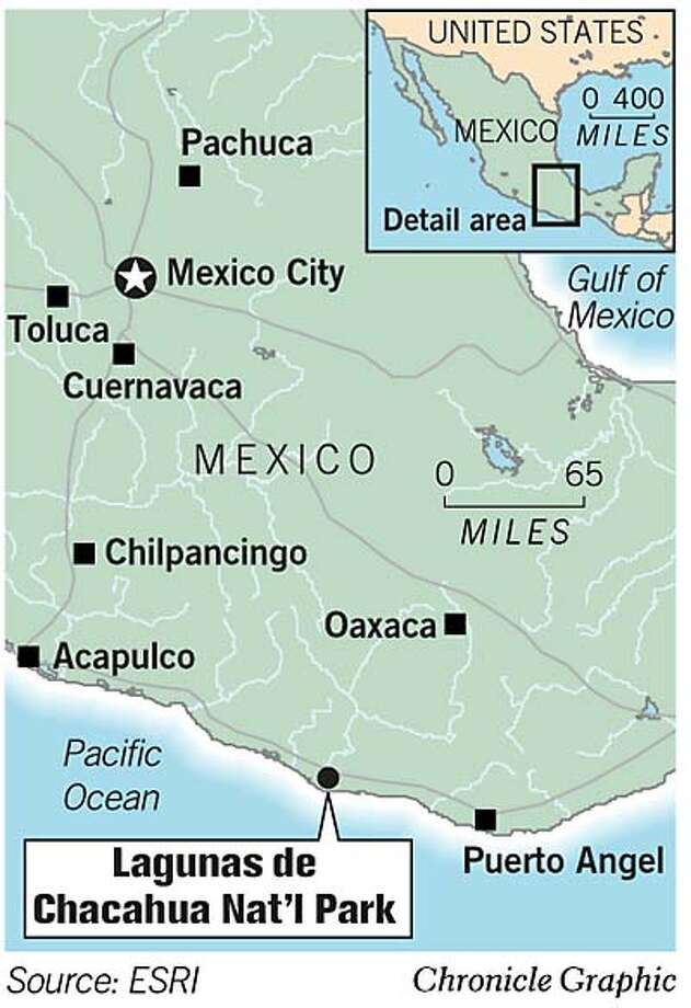 Lagunas de Chacahua National Park. Chronicle Graphic