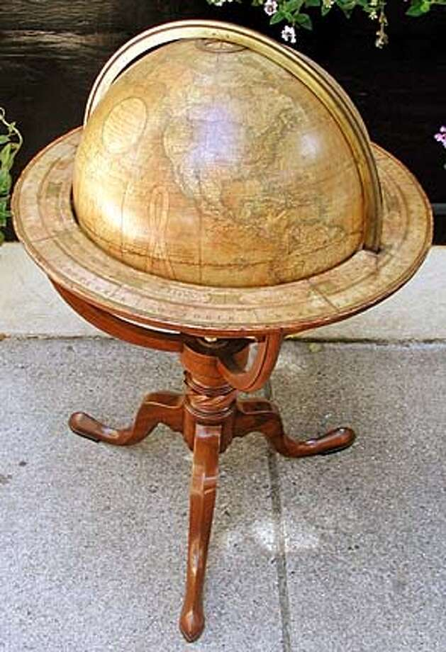 Earth globe ($28,500) from Daniel Stein Antiques