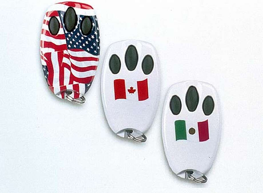 CHAMBERLAIN DESIGNER MINI REMOTES IN AMERICAN, CANADIAN AND MEXICAN FLAG DESIGNS