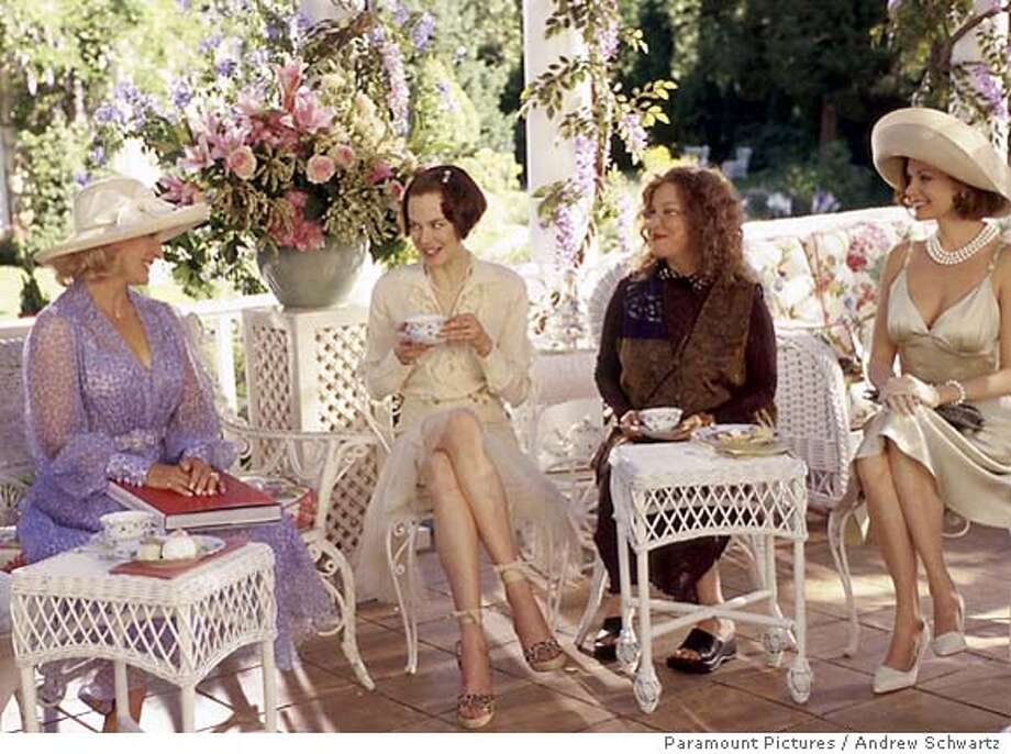 "(Left to right) Glenn Close as Claire Wellington, Nicole Kidman as Joanna Eberhart, Bette Midler as Bobbie Markowitz and Lisa Masters as Carol Wainwright in ""the Stepford Wives."" (AP Photo/Andrew Schwartz) Photo: ANDREW SCHWARTZ"