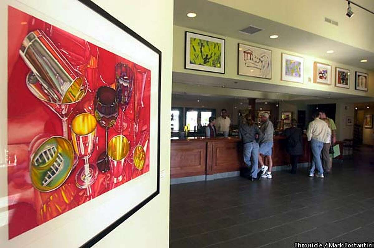 Original art that was designed for wine labels is available framed at Imagery Estates Winery in Glen Ellen. Chronicle photo by Mark Costantini