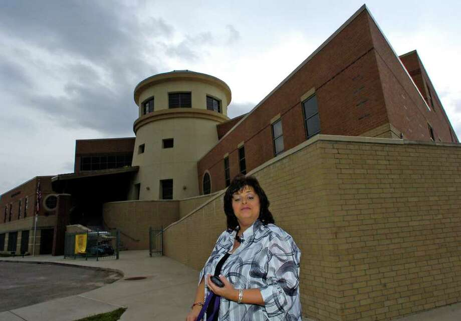 "Kristi Heid, Principal of the Sabine Pass School, and the residents of Sabine Pass got a new firestation and gymnasium in 2006 when ""Extreme Home Makeover"" appeared to help rebuild damage from Hurricane Rita. Unfortunately, both were lost in 2008's Hurricane Ike. Photo: Dave Ryan / Beaumont"